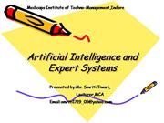 Artificial Intelligence and expert syste