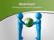 Protecting The World Teamwork Concept PowerPoint Templates PPT Themes