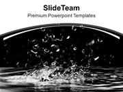 Splash And Water Droplets Abstract Background PowerPoint Templates PPT