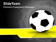 Black And White Football Game Theme PowerPoint Templates PPT Themes An