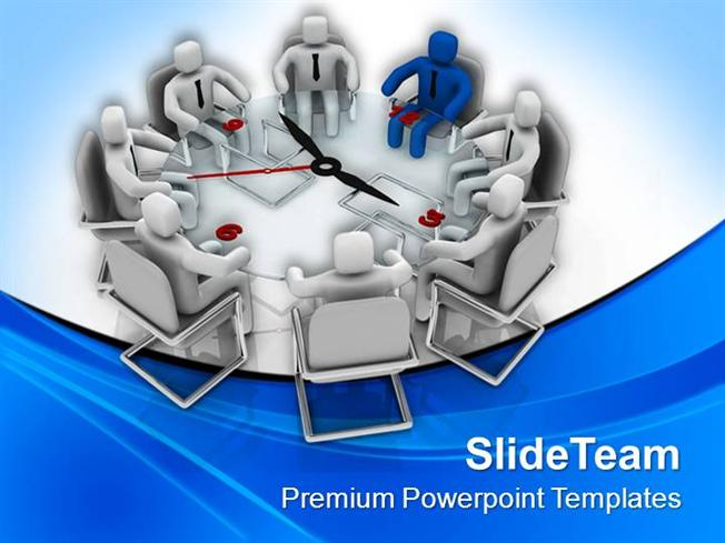 Business Conference With Time Management Powerpoint Templates Ppt