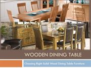 Choosing Right Solid Wood Dining Furniture