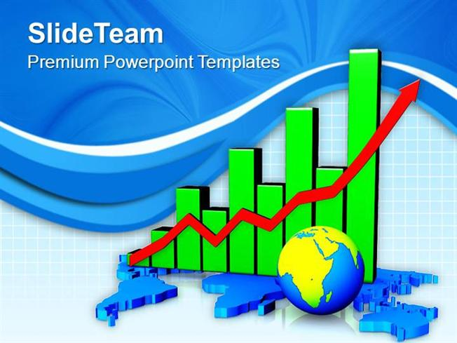 Global Economic Growth Bar Chart Powerpoint Templates Ppt Themes A