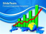 Global Economic Growth Bar Chart PowerPoint Templates PPT Themes And G