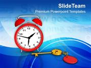 Solution Key Alarm Clock Time Management PowerPoint Templates PPT Them