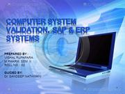 computer system validation,SAP & ERP systems