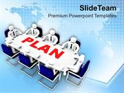 Team Efforts To Make Business Plan PowerPoint Templates PPT Themes And