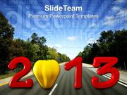 2013 New Year Theme PowerPoint Templates PPT Themes And Graphics 0413