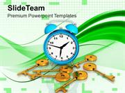 Abstract Background With Alarm Clock PowerPoint Templates PPT Themes A