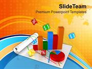 Bar Graph Pie Chart Business Growth PowerPoint Templates PPT Themes An