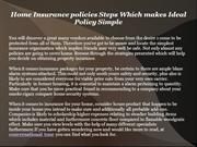 Home Insurance policies Steps Which makes Ideal Policy Simple