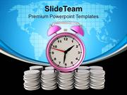 Money Growth Depends On Time PowerPoint Templates PPT Themes And Graph