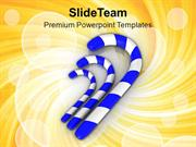Three Sugar Candy Celebration Theme PowerPoint Templates PPT Themes An