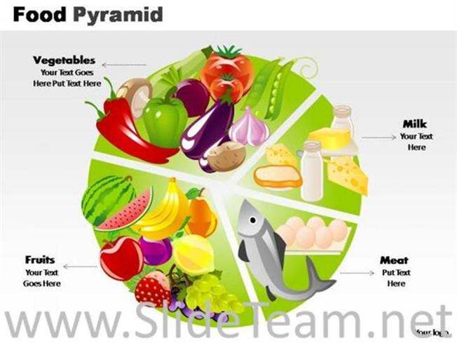 Healthy Food Powerpoint Template Powerpoint Diagram