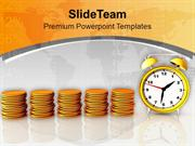 Coins Growth Depends On Time PowerPoint Templates PPT Themes And Graph