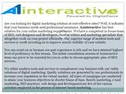 Internet Marketing Services, Online Marketing Firm
