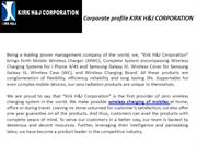 Corporate profile KIRK H&J CORPORATION