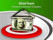 Dollar House As A Target PowerPoint Templates PPT Themes And Graphics
