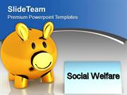 Donation To Homeless Social Welfare Concept PowerPoint Templates PPT T