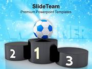 Become The First One In Game PowerPoint Templates PPT Themes And Graph