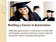 Building a Career in Automation