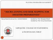 MICRO ZONING & RISK MAPPING FOR DISASTER PREPAREDNESS