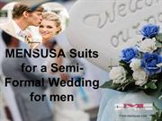 MENSUSA Suits for a Semi-Formal Wedding for men