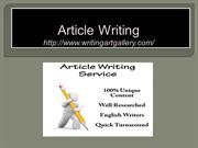 Article writing-1