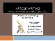 Article writing-2