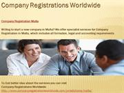 Company Registration Malta