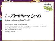 I –Healthcare Cards