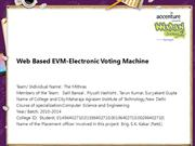 Web Based EVM-Electronic Voting Machine