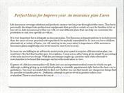 Perfect Ideas for Improve your An insurance plan Euros
