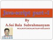 Java-script  part -1