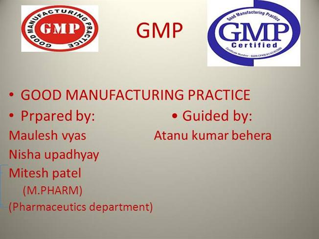 Good Manufacturing Practice |authorSTREAM