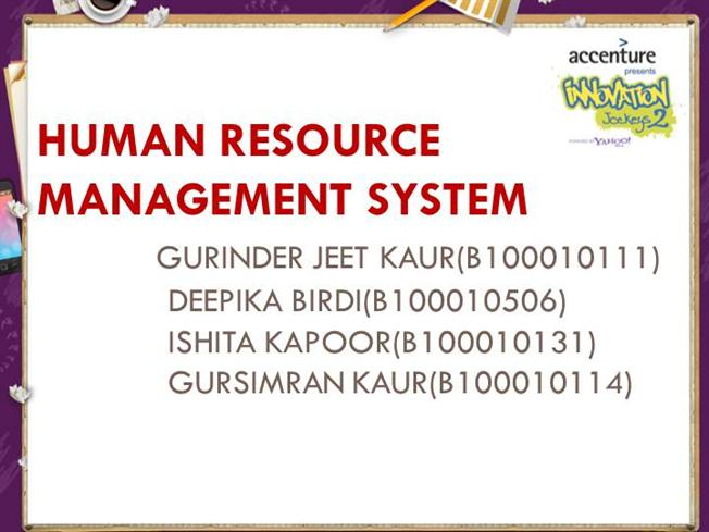 Human resource management system authorstream ccuart Images