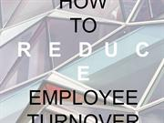 how to reduce employee turnover pdf