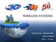 Presentation on 1G, 2G,3G,4G,5G,Wireless & Cellular Technologies