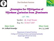 Methane Mitigation Strategies from livestock by Dr. Sk Asraf Hossain