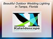 Beautiful Outdoor Wedding Lighting in Tampa, Florida