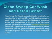 Clean Sweep Car Wash and Detail Center