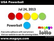 USA Powerball Drawing Results for Jul 24, 2013