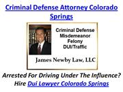 Criminal Defense Attorney Colorado Spri