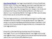 Arya Samaj Wedding, Arya Samaj Marriage Mandir, Love Marriage Delhi