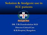 Sedation and analgesic use in ICU