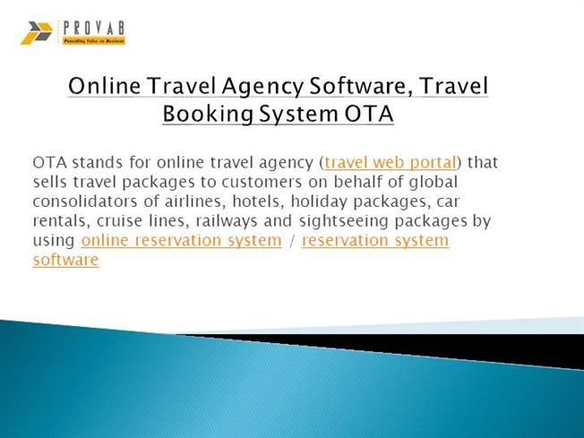 Online Travel Agency Software, Travel Booking System OTA