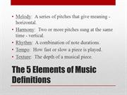 5 Elements Definitions Only