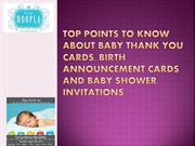 Birth Announcement Cards and Baby Shower Invitation