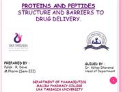 PROTEINS AND PEPTIDES
