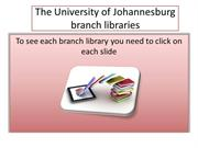 University of Johannesburg Campus Libraries